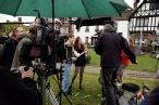Filming in Llandaff
