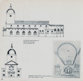 Llandaff Cathedral 1743 and 1828